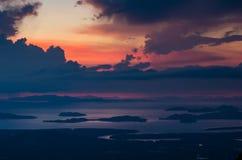Solnedgånghavssikt Royaltyfri Fotografi