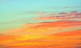 Solnedgånghimmel arkivfoto