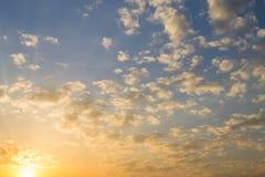 Solnedgånghimmelbakgrund Royaltyfri Foto