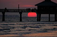 solnedgångiakttagare Royaltyfri Bild