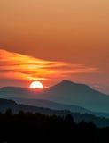 Solnedgångkamel knöl Royaltyfri Fotografi