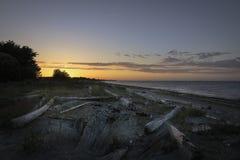 Solnedgångkanal av Juan de Fuca V 2 Fotografering för Bildbyråer