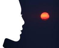 Solnedgångkonst Arkivbilder