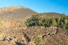 Solnedgångkrater, AZ, USA Arkivfoto