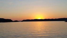 Solnedgångkryssning Royaltyfri Foto