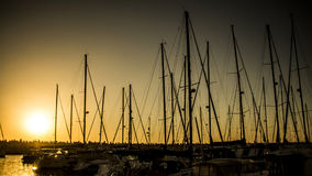 Solnedgångkryssning Fotografering för Bildbyråer