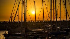 Solnedgångkryssning Arkivfoto