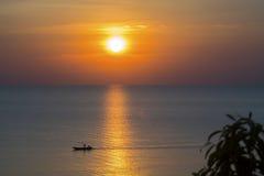 Solnedgångkullar Nang Phaya Arkivfoto