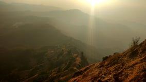 Solnedgångkulleöverkant 4 Arkivfoton