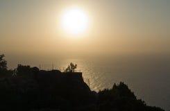 Solnedgånglandskap Arkivbilder