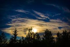 Solnedgånglandskap i sydvästliga Colorado Royaltyfri Bild