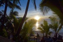 SolnedgånglandskapRarotonga kock Islands Royaltyfria Foton