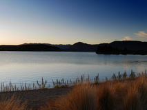 Solnedgånglandssida Arkivfoton