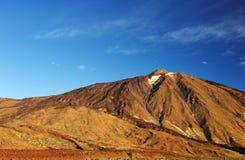 Solnedgångljus över den Teide nationalparken Arkivfoton