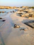 Solnedgångljus på Kreta Elafonisi paradis Grekland Härliga Ela Fotografering för Bildbyråer