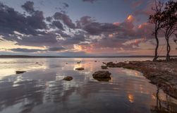 Solnedgånglugn Australien Arkivbilder