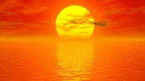 Solnedgångmeditation - 3D framför vektor illustrationer