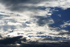 Solnedgångmoln Royaltyfria Foton