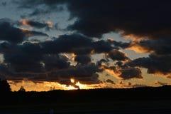 Solnedgångmoln Royaltyfria Bilder