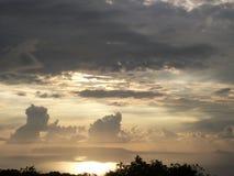 Solnedgångmoln fotografering för bildbyråer