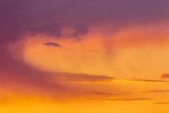 Solnedgångmoln Royaltyfri Foto