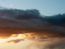 Solnedgångmoln Royaltyfri Fotografi