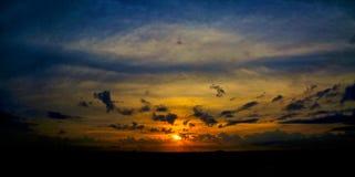 Solnedgångmoln Florida royaltyfri foto