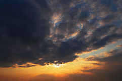 Solnedgångnatur Arkivfoton
