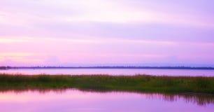 Solnedgångnaturbakgrund Royaltyfri Fotografi