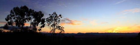 Solnedgångnatursikt Arkivbild