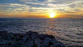 Solnedgångnoja Arkivfoto