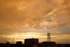 solnedgångogenomskinlighet Royaltyfria Foton