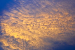 Solnedgångoklarhet Arkivfoto