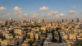 Solnedgångpanorama av Tel Aviv lager videofilmer
