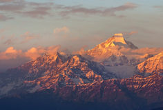 Solnedgångplats över Nanda Kot Royaltyfri Foto