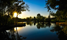 Solnedgångreflexion Royaltyfri Bild