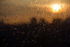 Solnedgångregn Fotografering för Bildbyråer
