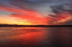 SolnedgångSancuary punkt Royaltyfria Foton