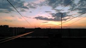 Solnedgångscape Arkivbild