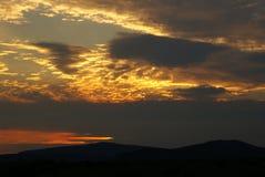 SolnedgångShasta dal, Kalifornien, USA Arkivfoto