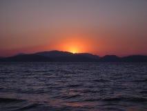 Solnedgångsikt Royaltyfri Fotografi