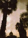 Solnedgångsikt Arkivbild