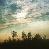 Solnedgångsikt Royaltyfri Foto