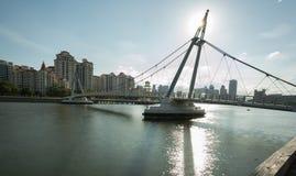 Solnedgångsikt på Tanjong Rhu Arkivfoton