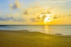 Solnedgångsikt Phuket Thailand arkivfoton