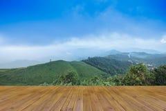 Solnedgångsiktspunkt på Nern Chang Suek Viewpoint, Pilok, Kanchanab Royaltyfri Fotografi