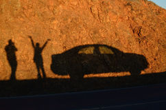 Solnedgångskugga Arkivfoto