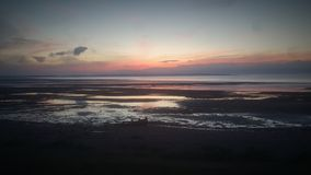 Solnedgångsolnedgångsolnedgång Arkivbild
