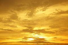 Solnedgångsoluppgång Cloudscapes Arkivfoton