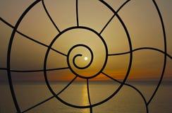 Solnedgångspiral Arkivfoto